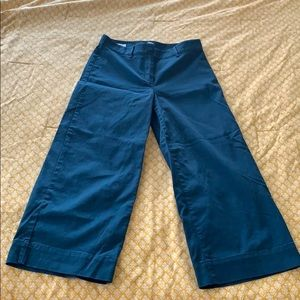 LOFT Size 2 Wide Leg Crop Teal Pants